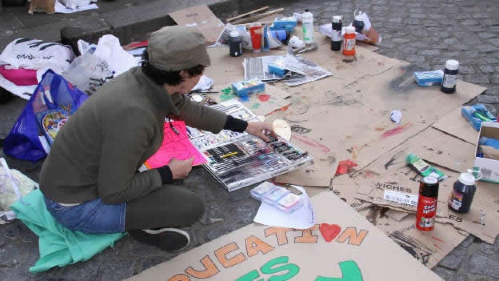 Ocupa Londres - manifestante