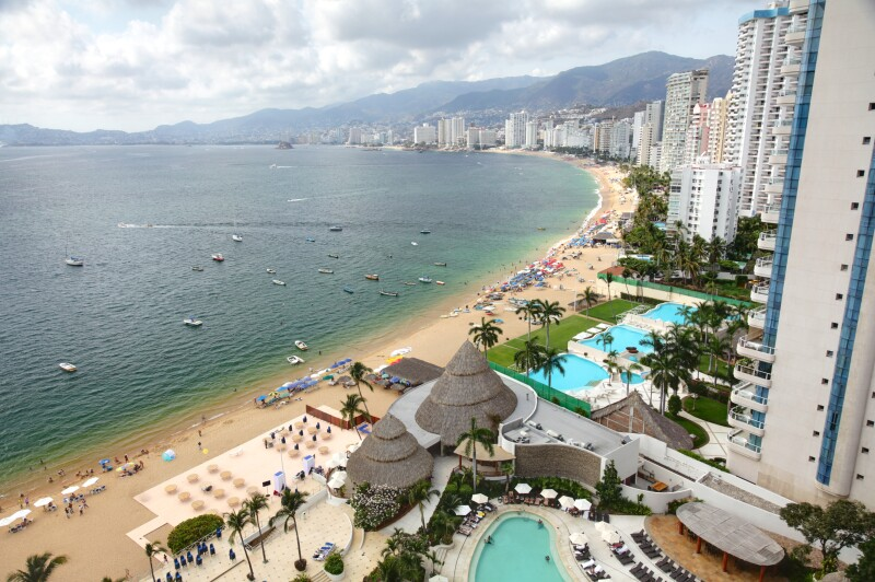 High-rise view of Acapulco bay