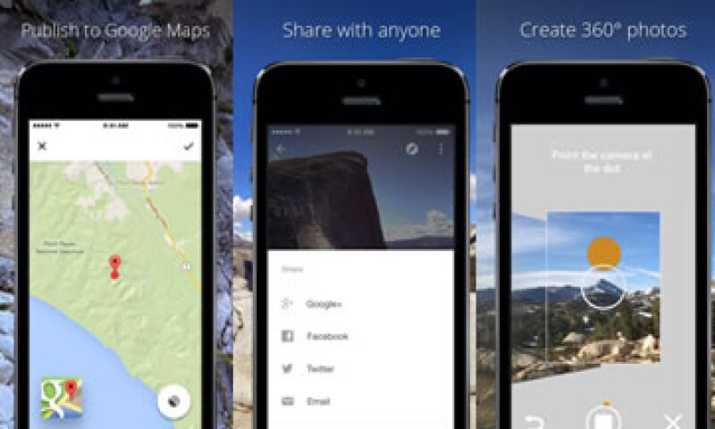 La app permite crear fotos en 360º y compartirlas con el mundo en Google Maps (Foto: Cortesía iTunes)