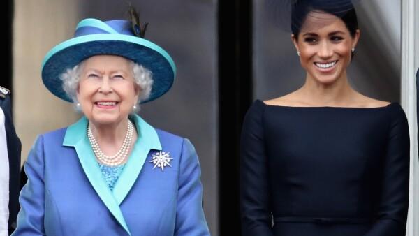 Reina Isabel y Meghan 100 años Real Fuerza Aérea julio 2018