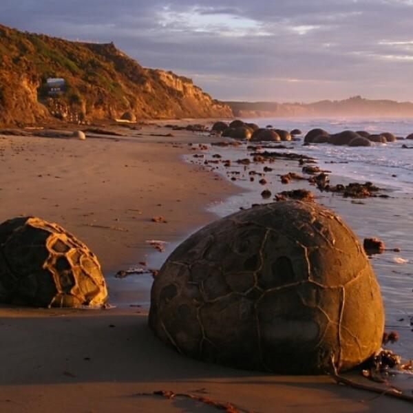 Playa Koekohe Isla Sur de Nueva Zelandia