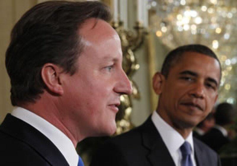 El Gobierno de David Cameron se propone atacar el desequilibrio fiscal de GB, una medida que debe ser tomada en cuenta por Barack Obama. (Foto: Archivo AP)