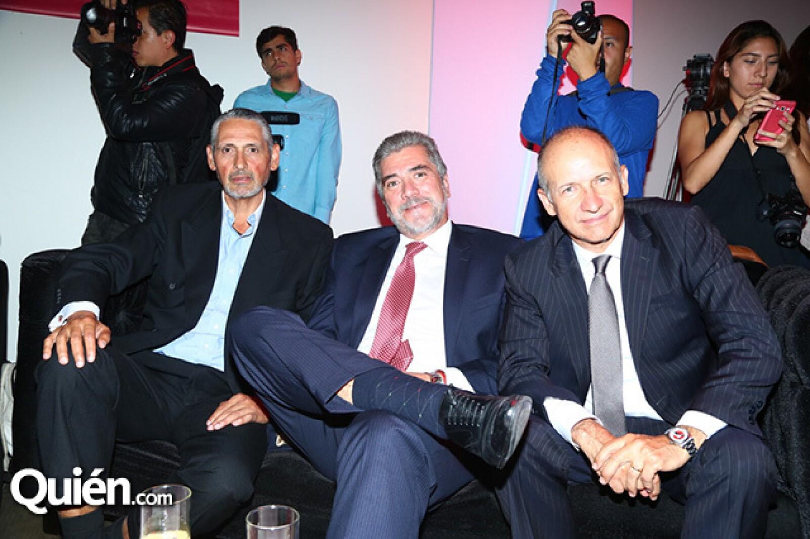 Ignacio Valdés, Rafael Rodríguez y Eduardo Hernández