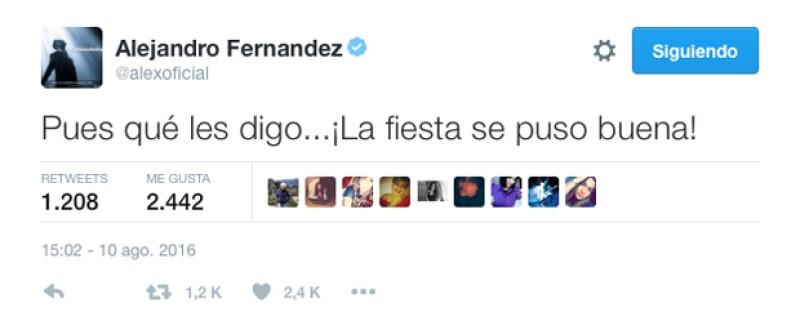 Este es el mensaje que El Potrillo escribió en Twitter tras la polémica foto de él en Las Vegas.