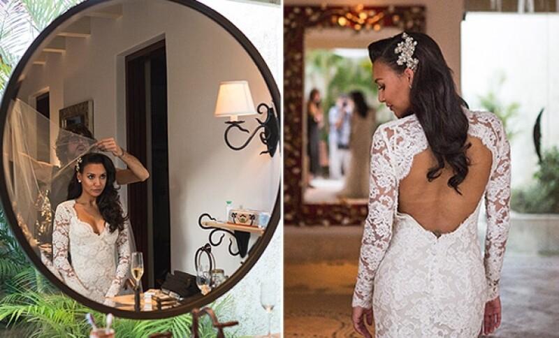 Pese a que en su Instagram sólo compartió detalles de su viaje por Baja California, compartió con People los detalles de su vestido.