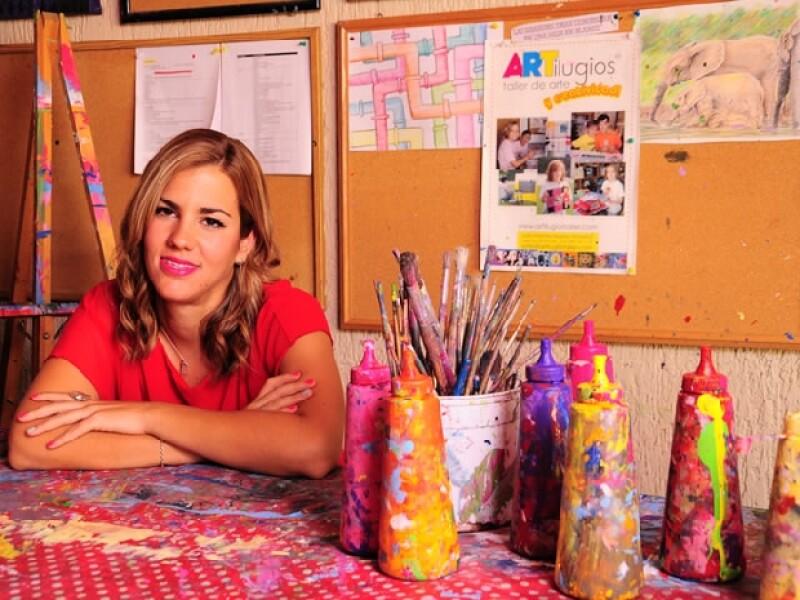La tapatía cumplió el mayor sueño de su vida al abrir su propia escuela de arte.
