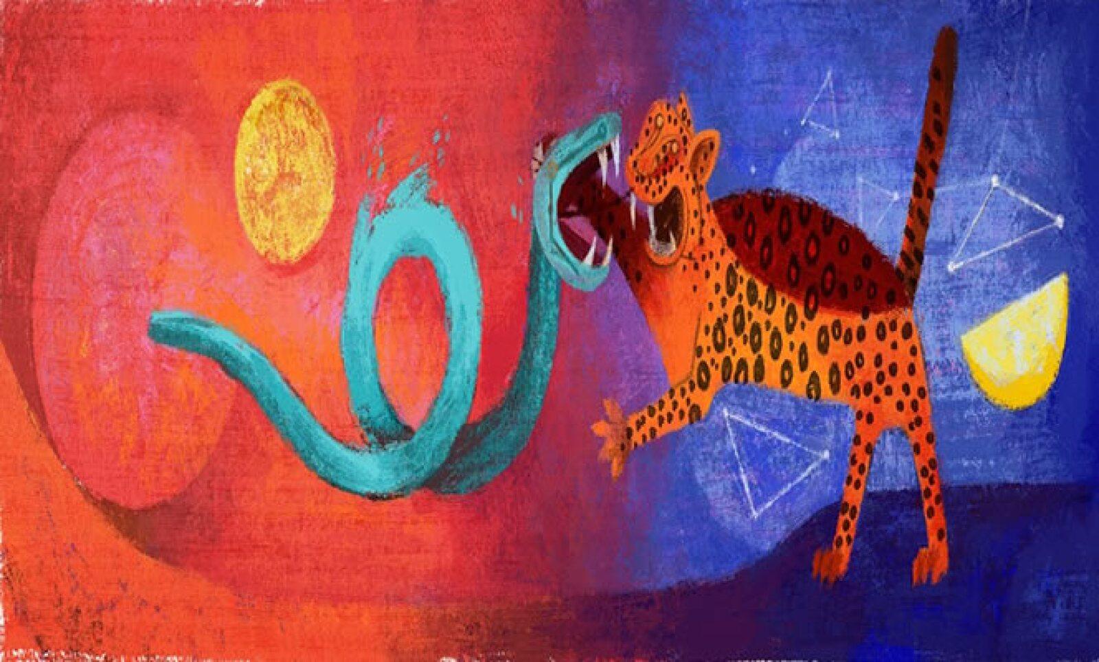 El muralista mexicano hizo su aparición en un 'doodle' el 26 de agosto de 2013.