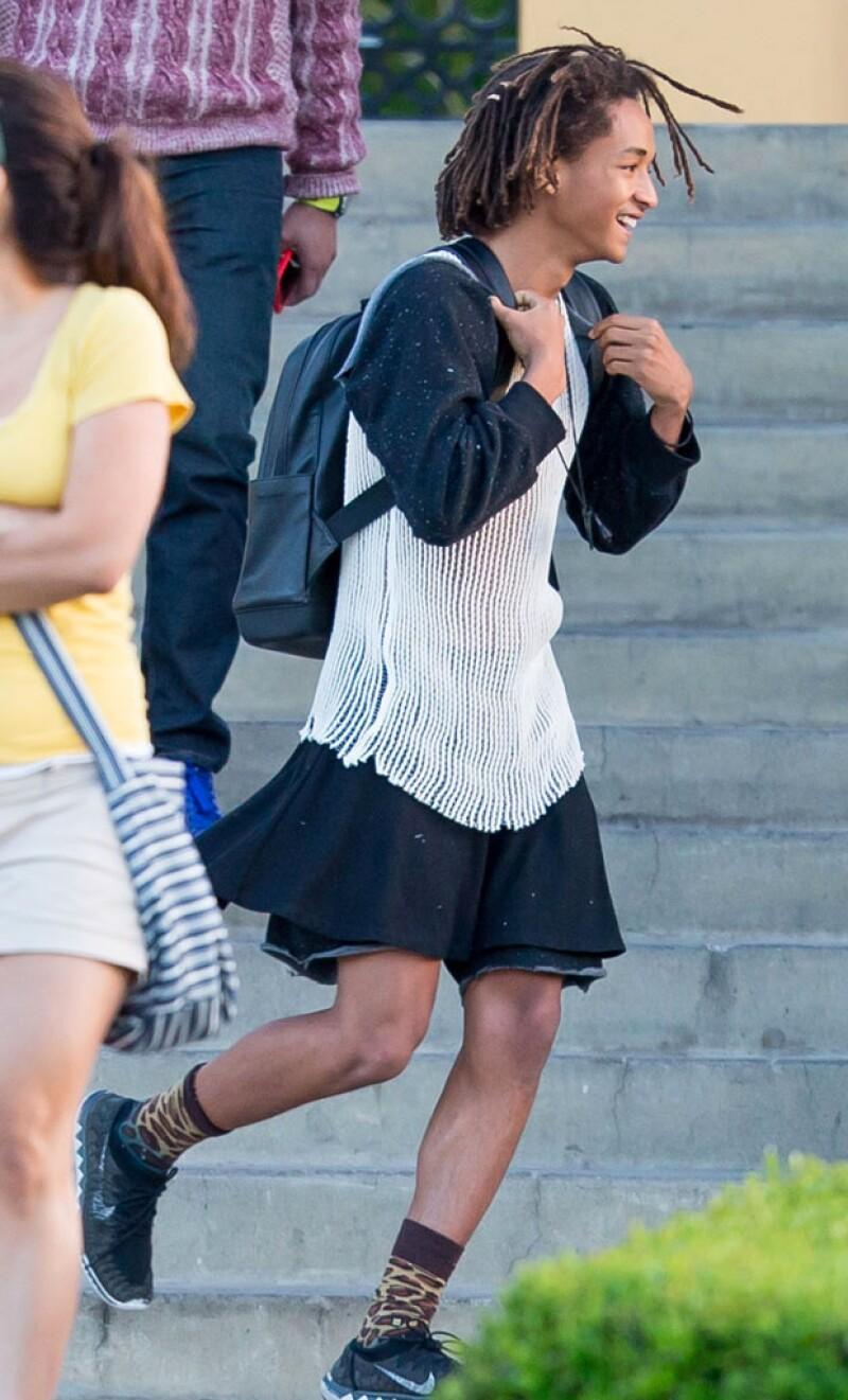 El hijo de Will Smith es fanático de las faldas.