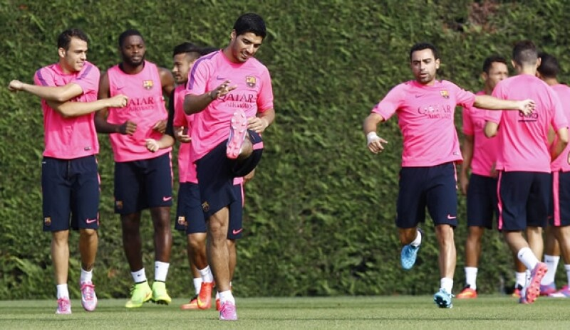 Luis Suárez entrenamiento Barça