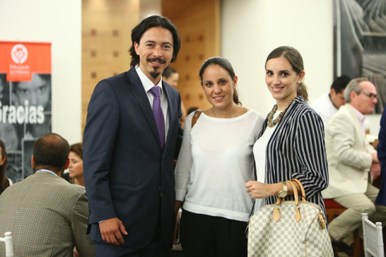 Carlos Mendieta, Pilar Montaño y Marialy Ortega