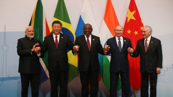 BRICS Brasil, China, India, Sudáfrica y Rusia