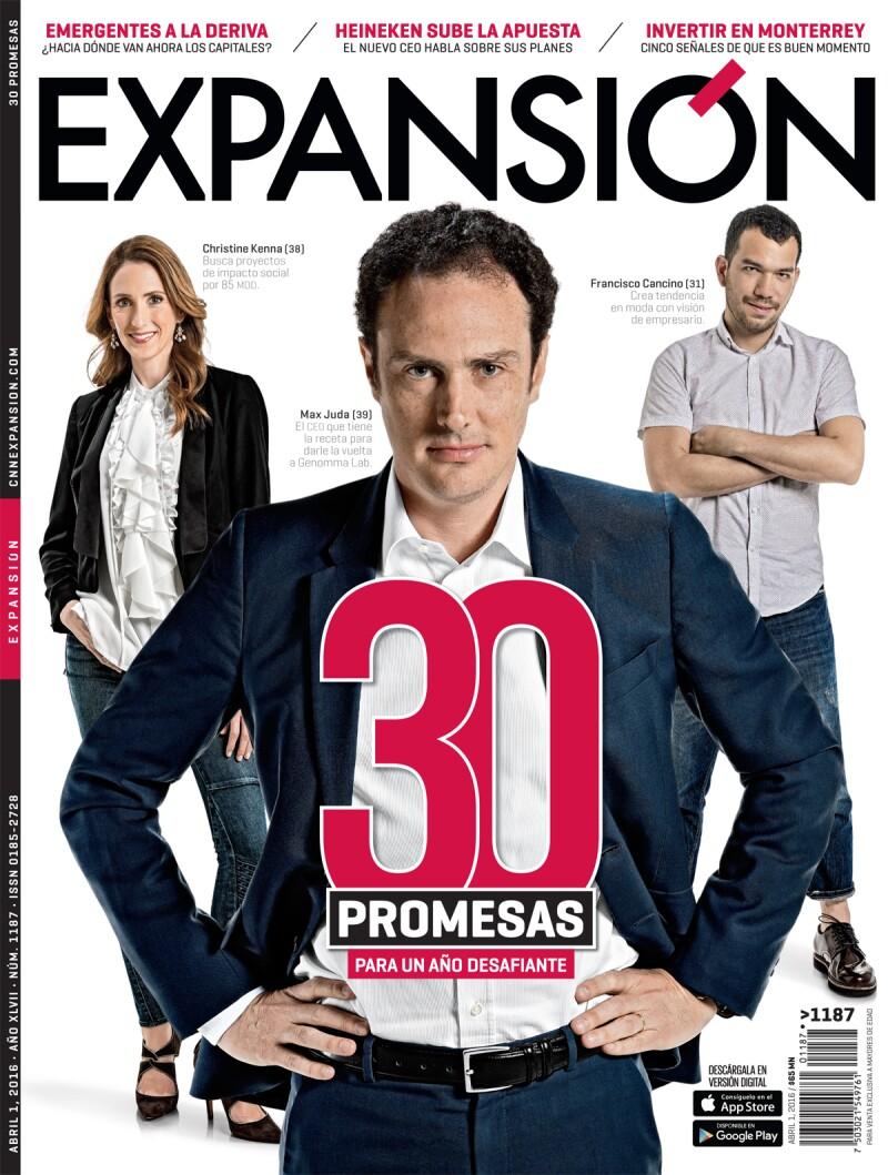 Las 30 emprendedores de este año fueron elegidas por los editores de Expansión como los más prometedores del año.
