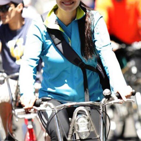 Cuando se dio a conocer que en el DF prestarían bicis para proteger la ecología, Alejandra Barros decidió sumarse al proyecto.