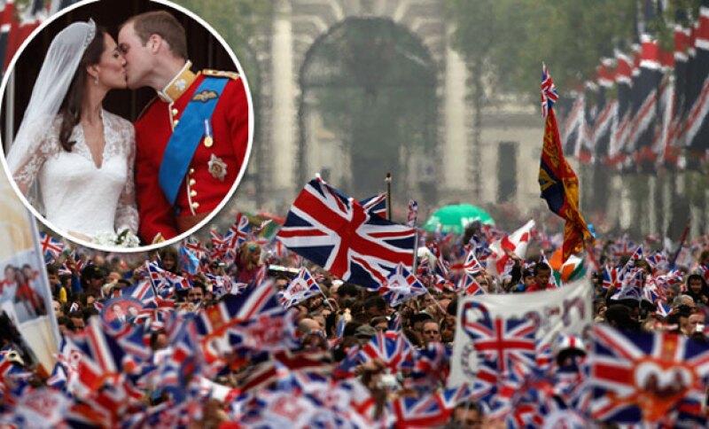 El turismo por la boda de Kate y William aumentó en 2011 un 80 por ciento.