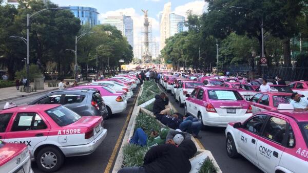 Protesta taxistas paros