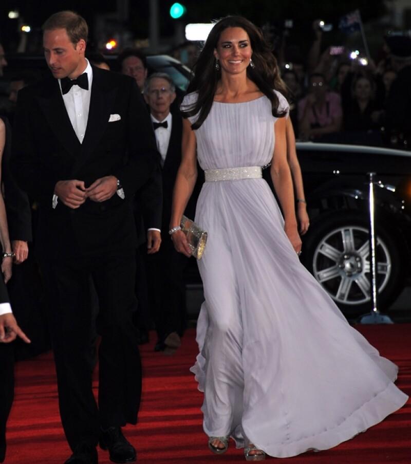 Para la gala, Kate se apoyó en su diseñadora de cabecera Sarah Burton.