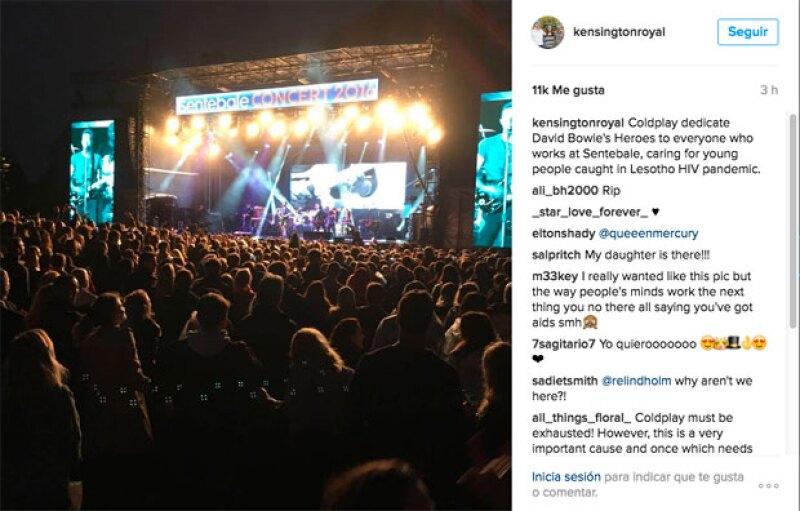 Sentebale concert, fue como se etiquetó el evento.