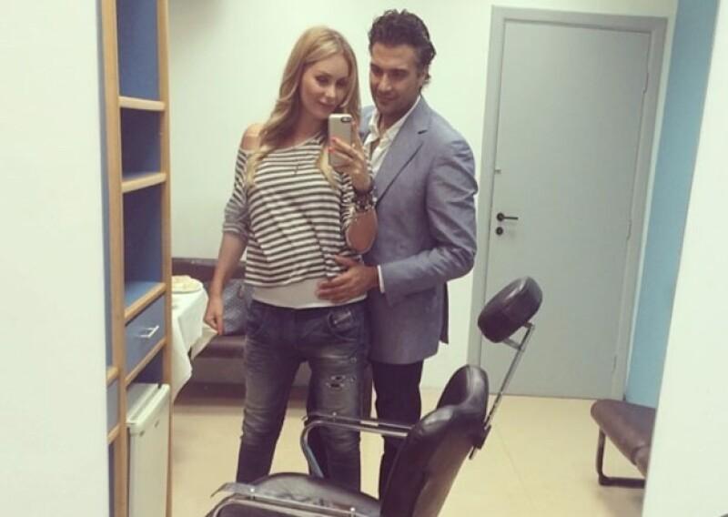 Jaime Camil viajó a Brasil para participar en un programa de TV y Heidi lo acompañó.