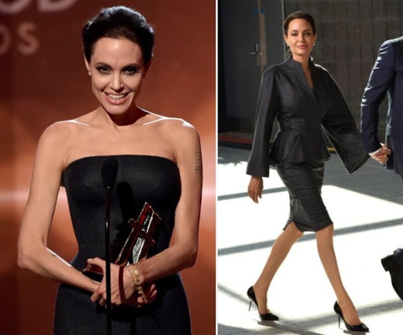En 2014 Angelina comenzó a perder peso drásticamente.