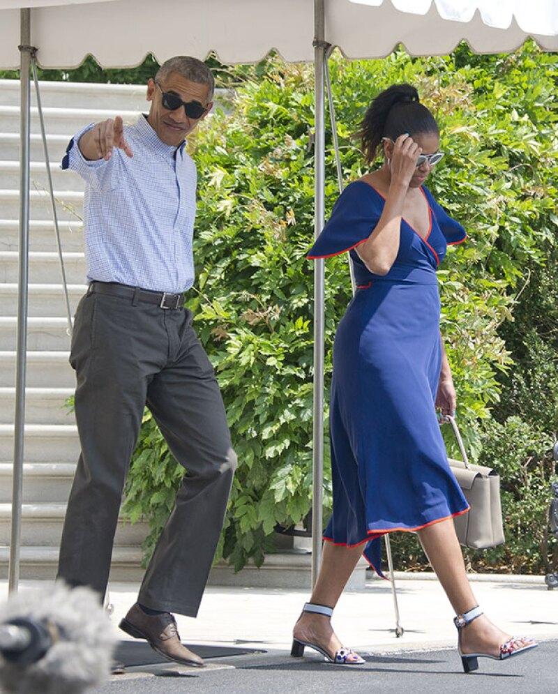El presidente de Estados Unidos se mostró carismático frente a las cámaras.
