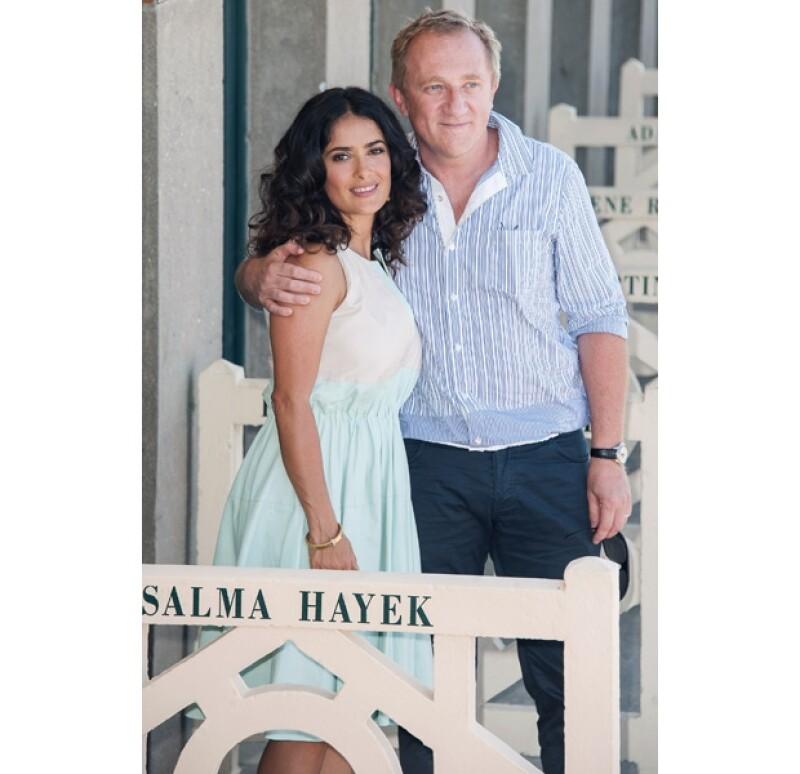 Salma y Henri en uno de sus múltiples viajes por Europa.
