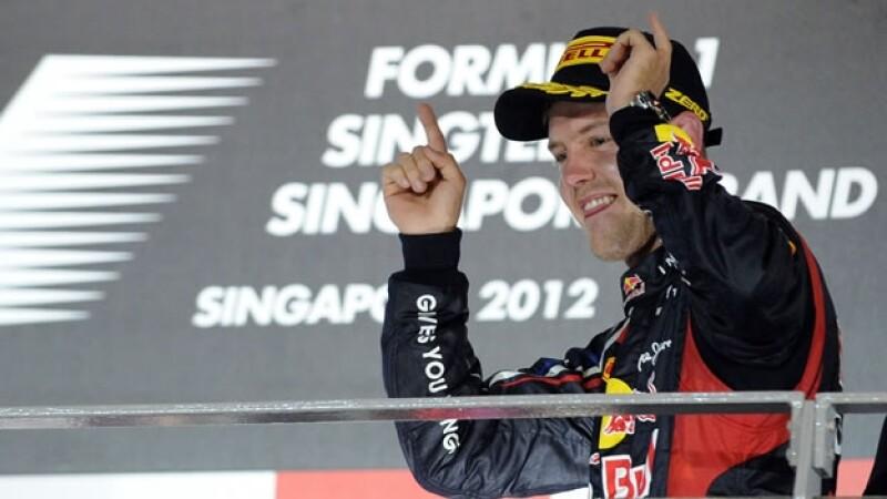 Sebastian Vettel gana el GP de Singapur