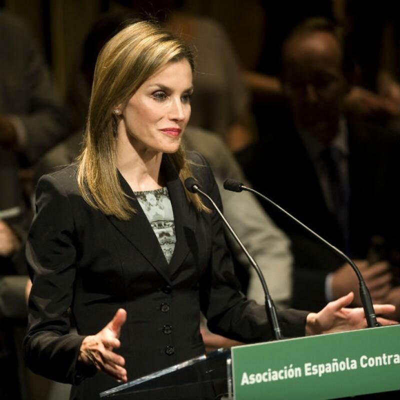 La reina Letizia en un reciente evento público de la Asociación Española contra el cáncer.