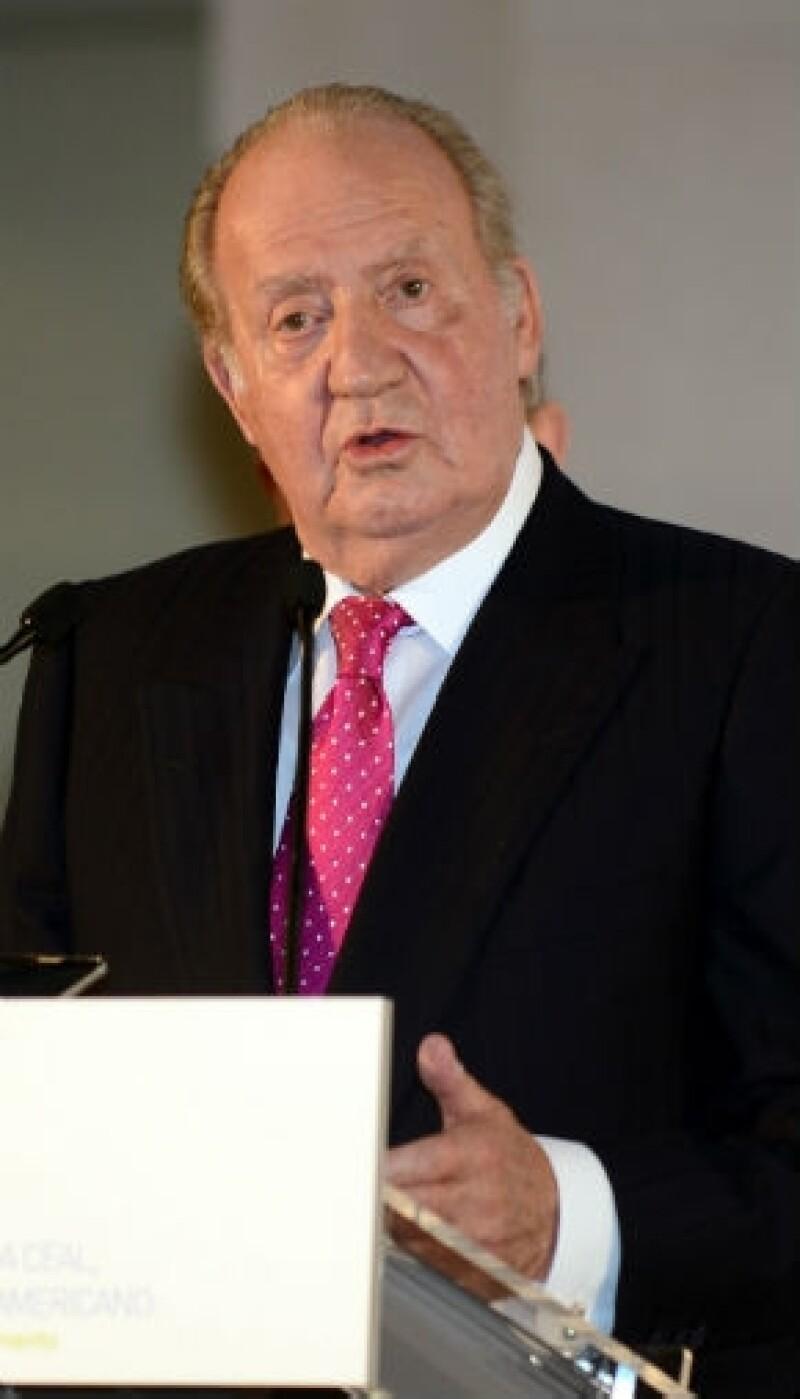 """El rey Juan Carlos, de quien Piqué """"robó"""" sus palabras."""