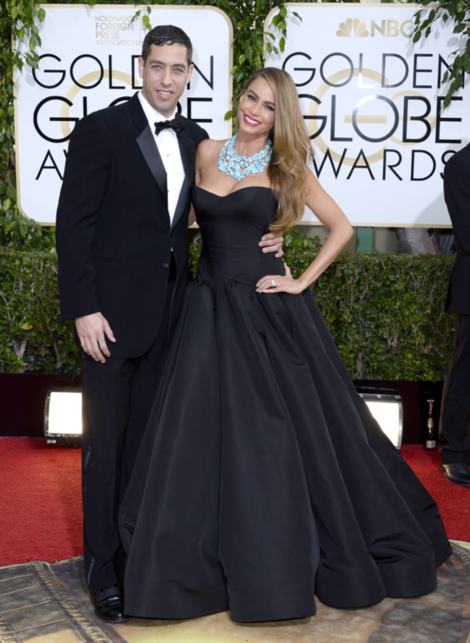 Apagando rumores de separación, Sofía Vergara llegó con Nick Loeb.