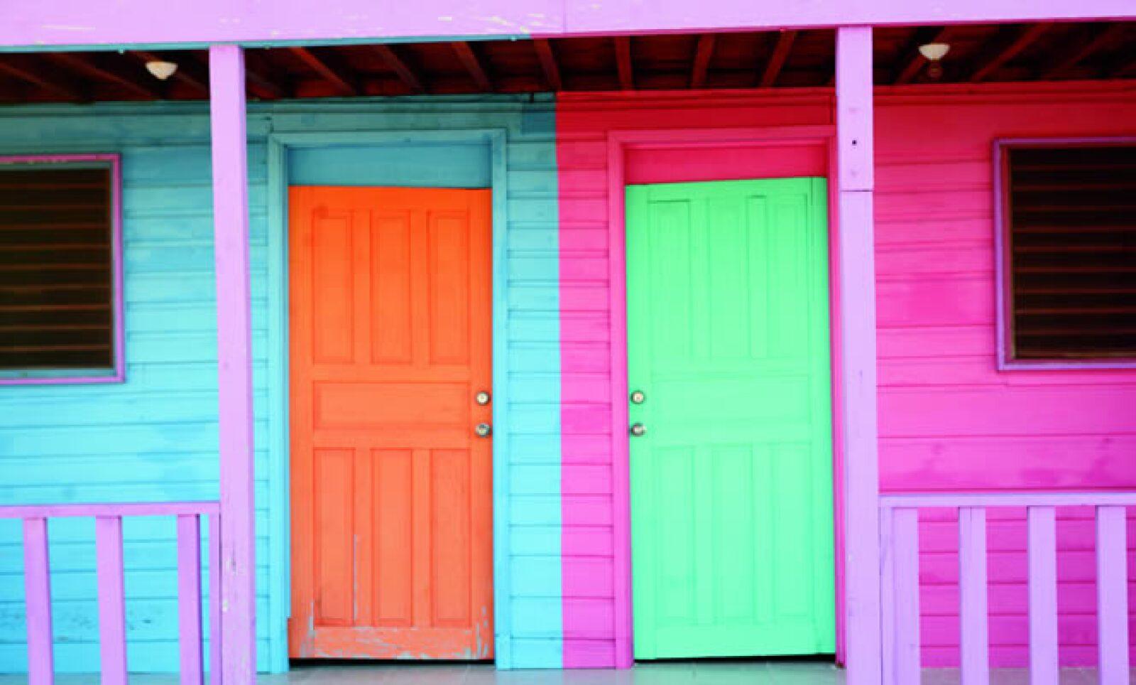 En Costa Maya predominan los colores pasteles, cánones del folclor caribeño.