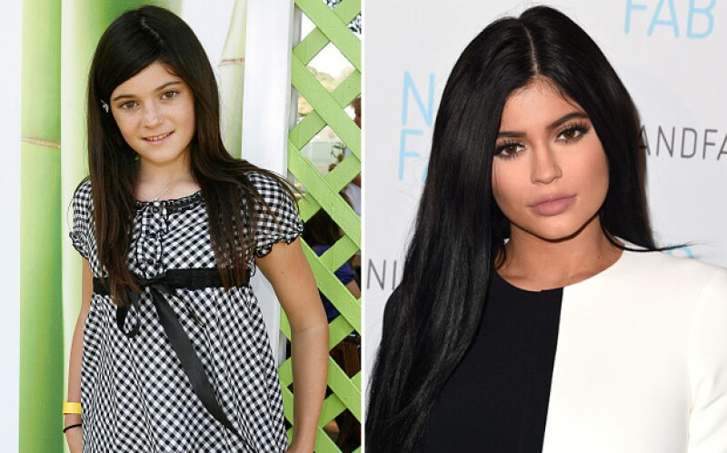 Kylie lucía así en el 2007 con una imagen completamente natural. A la izquierda es como luce actualmente.