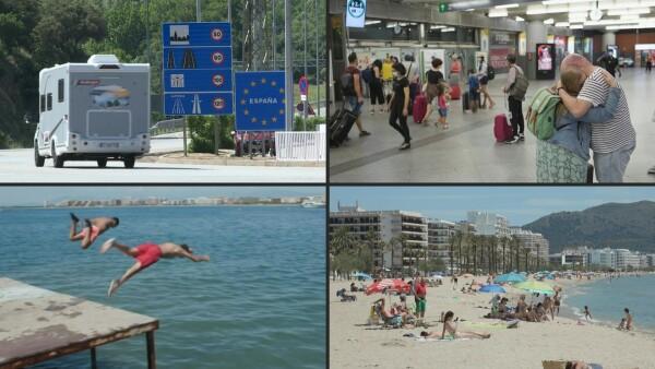 """España pone a prueba su """"nueva normalidad"""" turística"""