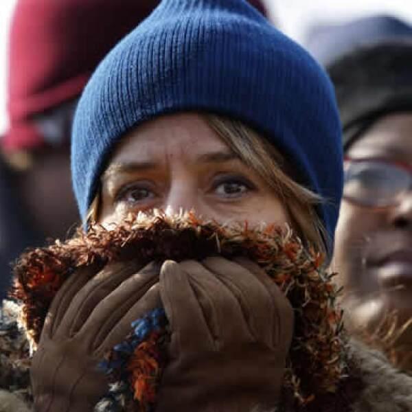 Esta mujer no pudo contener el llanto durante el discurso de asunción de Obama.