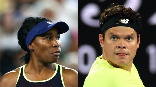 Venus Williams y Milos Raonic