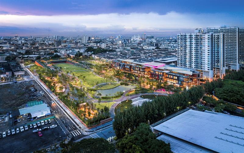 Parque - Bangkok - tecnología - inundaciones
