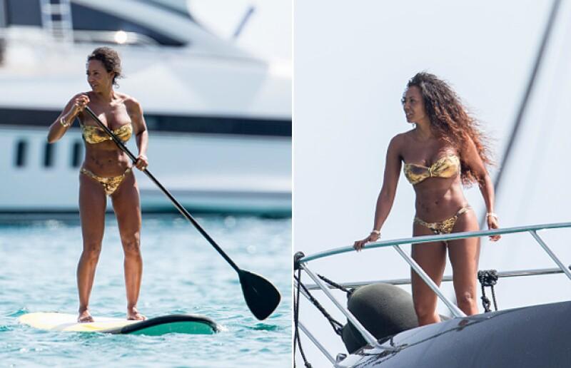 Mel B fue captada hace unos días de vacaciones en Ibiza.