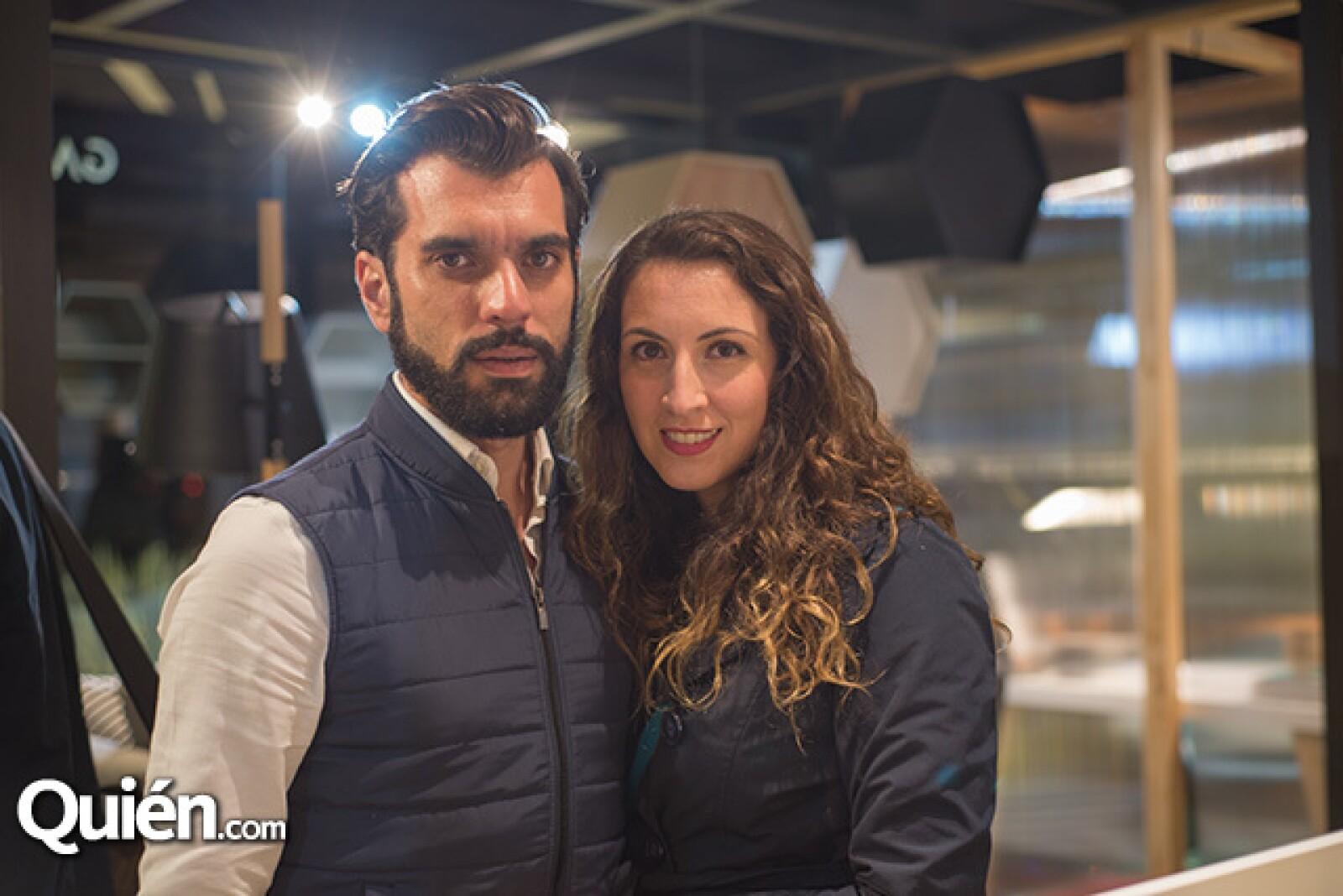 Vincent Speranza y Paola Espíndola