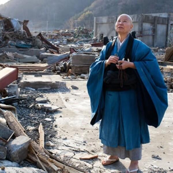 Japón - monje - desastre