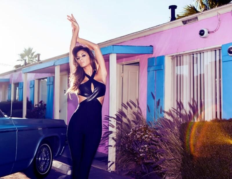 Nicole Scherzinger lució impecable durante la producción de la campaña