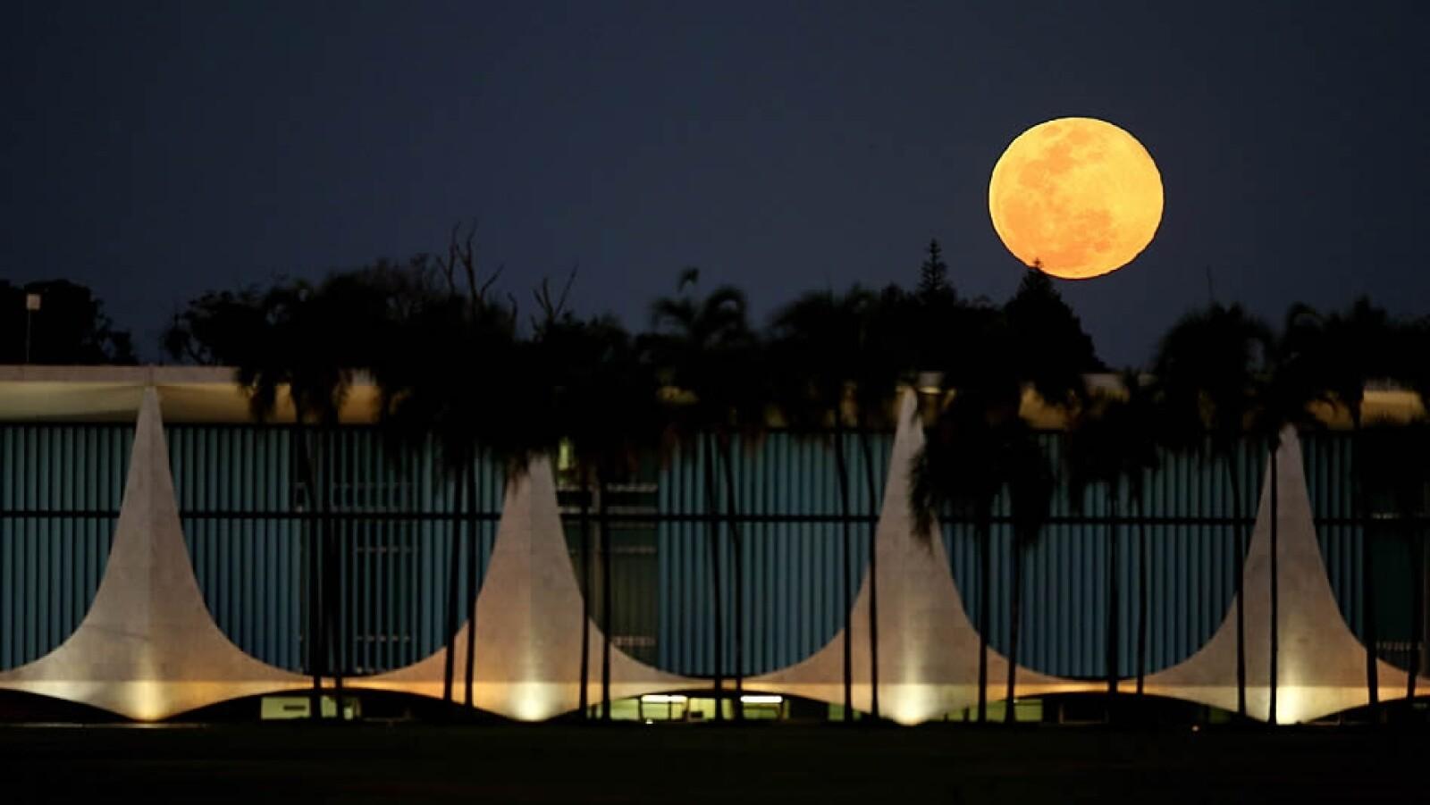 Luna paseo Palacio del Alvorada Brasilia