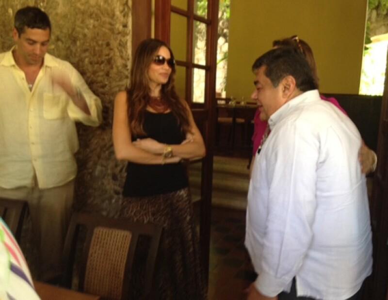 La actriz estuvo hospedada en la hacienda Puerta Campeche.
