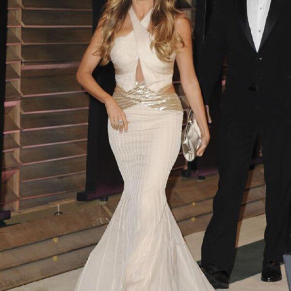 Sofía Vergara a su llegada a la fiesta de Vanity Fair.