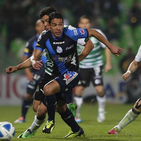 Puebla no pudo anotar como visitante ante Santos