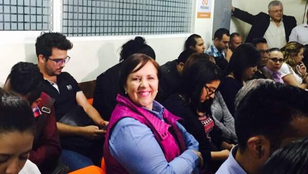Ana Teresa Aranda estuvo presente en la sesión de los consejeros Instituto Estatal Electoral de este martes.