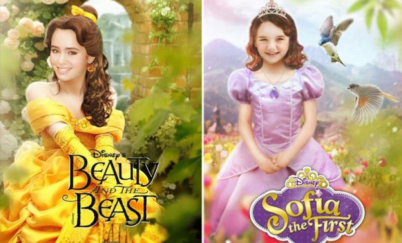 Lilly Collins como Bella y Suri Cruise como Sophia.