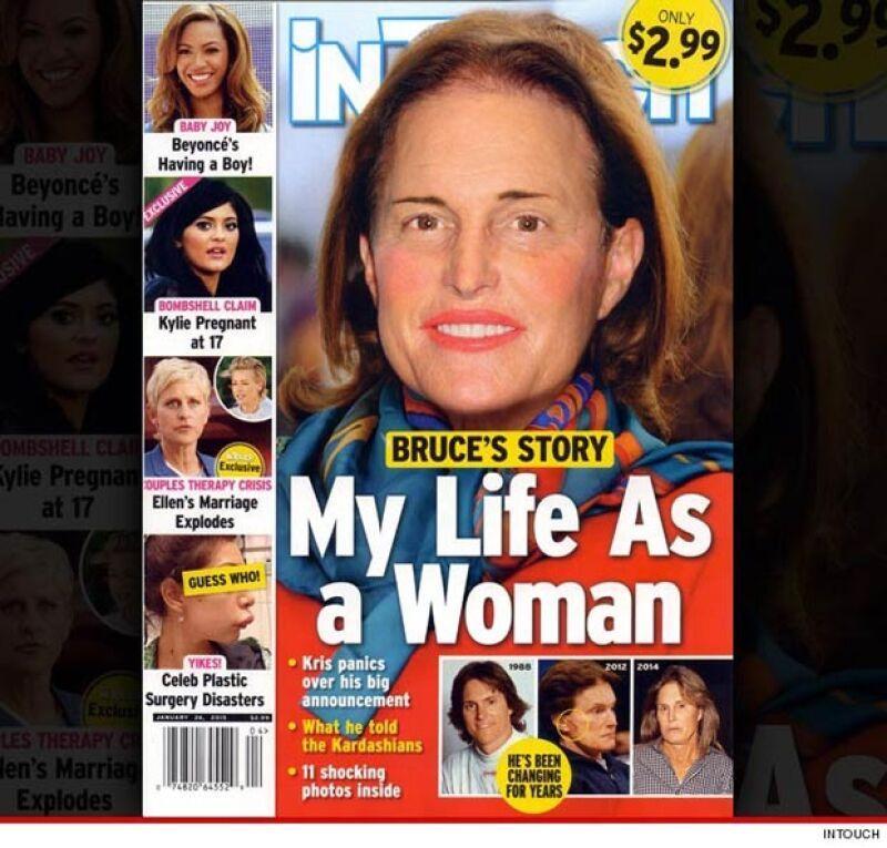 En la revista In Touch, el ex atleta aparece transformado completamente en mujer.