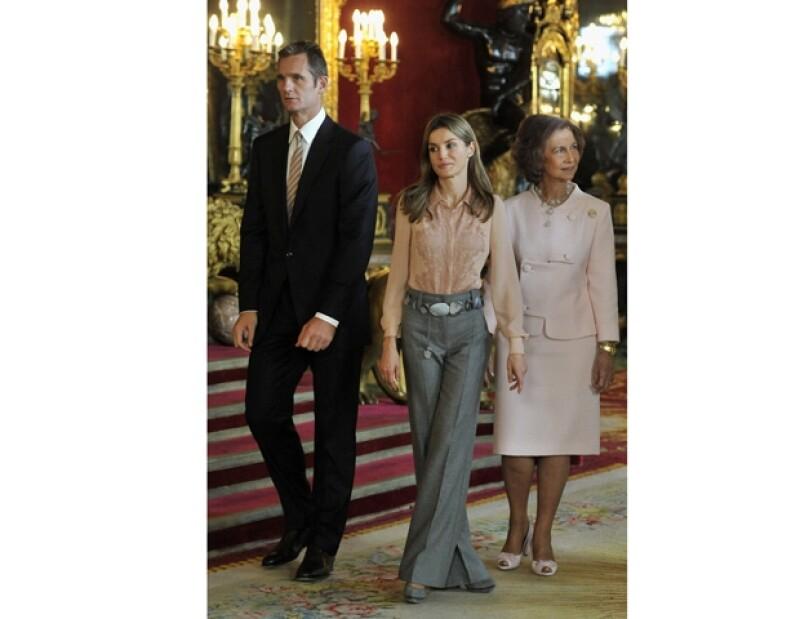 Iñaki Urdangarin, la princesa Letizia y la reina Sofía.