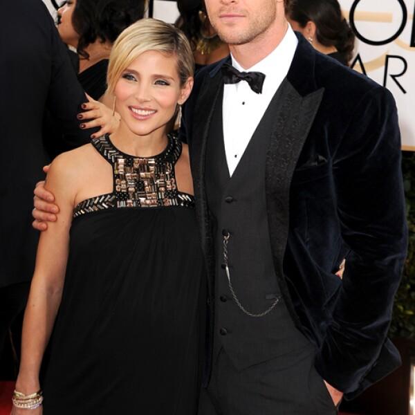 Chris Hemsworth caminó por la red carpet con su hermosa y embarazada esposa Elsa Pataky