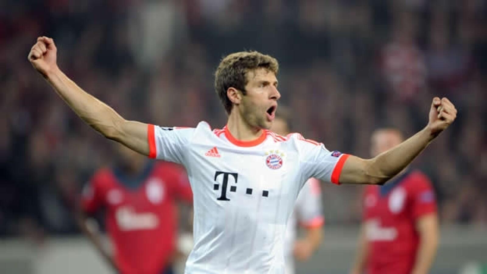 Thomas Muller del Bayern celebra su gol- AFP