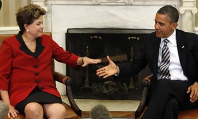 Dilma Rousseff, presidenta de Brasil, se reunió con su homólogo Barack Obama. (Foto: Reuters)